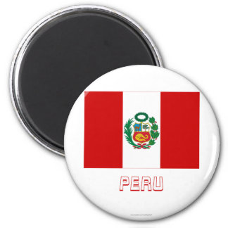 Peru Flag with Name Magnet