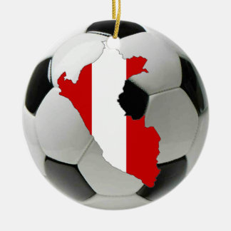 Peru football soccer ornament