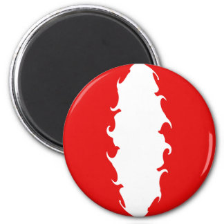 Peru Gnarly Flag 6 Cm Round Magnet
