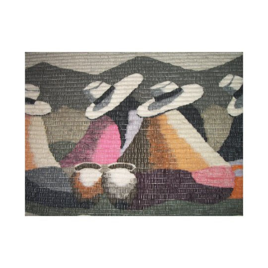 Peru Gossip Girls Wall Canvas