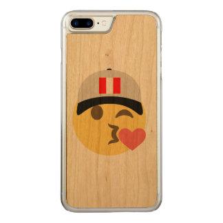 Peru Hat Kiss Emoji Carved iPhone 7 Plus Case