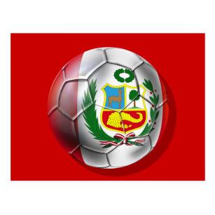 9edfc90662a Peru La Blanquirroja La Rojiblanca soccer ball Postcard