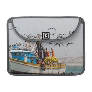 Peru, Los Organos. Fishing Boat In Los Organos Sleeve For MacBook Pro