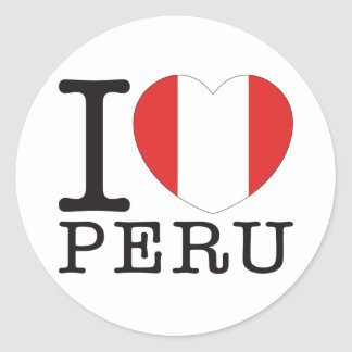 Peru Love v2 Classic Round Sticker