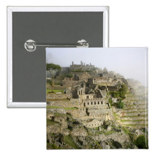 Peru, Machu Picchu. The ancient citadel of Machu 15 Cm Square Badge