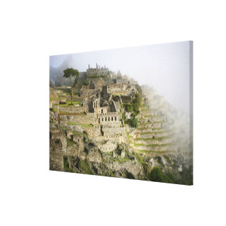 Peru, Machu Picchu. The ancient citadel of Machu Canvas Print