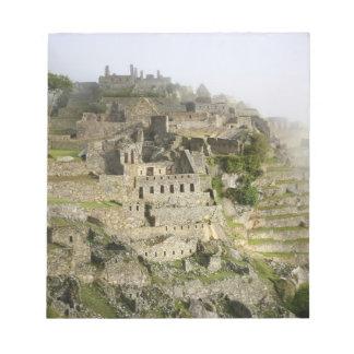 Peru, Machu Picchu. The ancient citadel of Machu Notepad