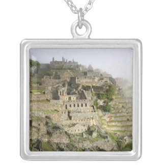 Peru, Machu Picchu. The ancient citadel of Machu Silver Plated Necklace