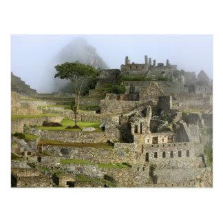 Peru, Machu Picchu. The ancient citadel of Post Card