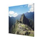 Peru, Machu Picchu, the ancient lost city of 2 Canvas Print
