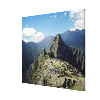 Peru, Machu Picchu, the ancient lost city of 2 Canvas Print