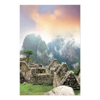 Peru, Machu Picchu, the ancient lost city of 3 Photo Print
