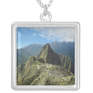 Peru, Machu Picchu, the ancient lost city of 3 Silver Plated Necklace