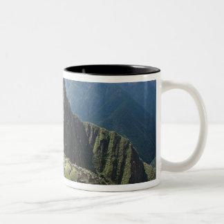 Peru, Machu Picchu, the ancient lost city of 3 Two-Tone Coffee Mug
