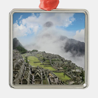 Peru, Machu Picchu, the ancient lost city of 4 Christmas Ornament