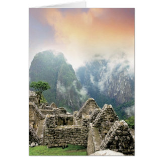 Peru, Machu Picchu, the ancient lost city of Greeting Card