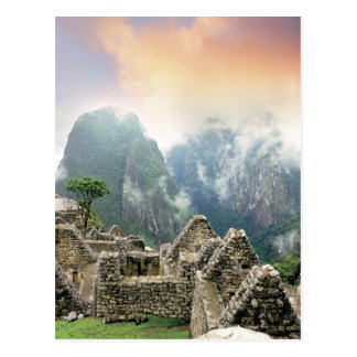 Peru, Machu Picchu, the ancient lost city of Postcard