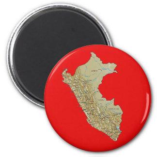 Peru Map Magnet