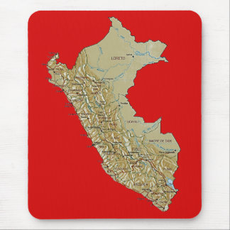 Peru Map Mousepad