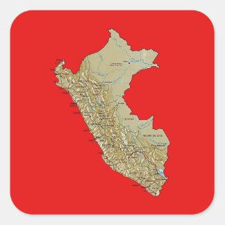 Peru Map Sticker