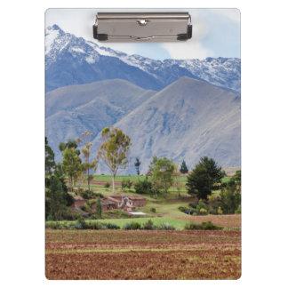 Peru, Maras. Landscape Above The Sacred Valley Clipboard