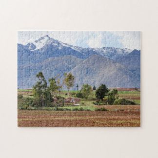 Peru, Maras. Landscape Above The Sacred Valley Jigsaw Puzzle