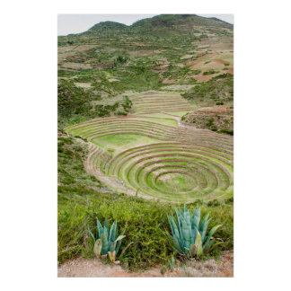 Peru, Moray. Moray Incan Agricultural Laboratory Poster