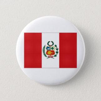 Peru National Flag 6 Cm Round Badge