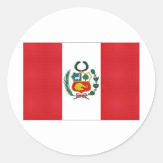 Peru National Flag Classic Round Sticker
