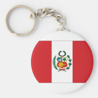 Peru National Flag Key Ring