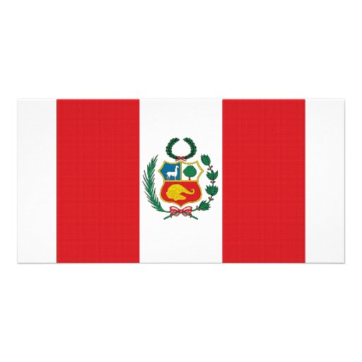 Peru National Flag Picture Card | Zazzle