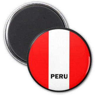 Peru Roundel quality Flag Fridge Magnets