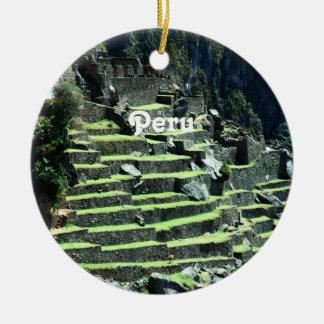 Peru Ruins Christmas Ornament