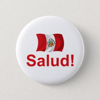 Peru Salud! 6 Cm Round Badge
