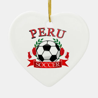 Peru soccer ball designs christmas ornament