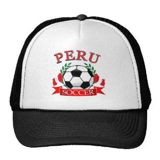 Peru soccer ball designs hats