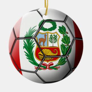 Peru Soccer Ornament