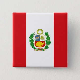 Peru State Flag Button