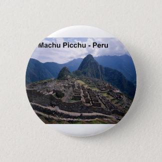 Peru The Ruins of Machu Picchu (St.K.) 6 Cm Round Badge
