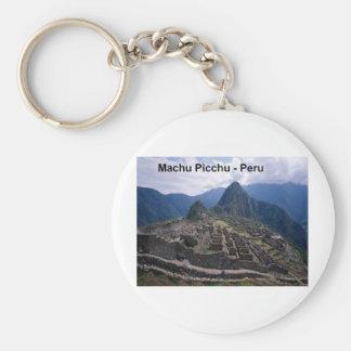Peru The Ruins of Machu Picchu (St.K.) Basic Round Button Key Ring