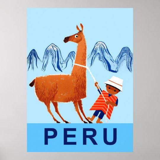 Peru travel poster