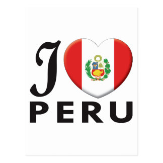 Peru v2 Love Postcard