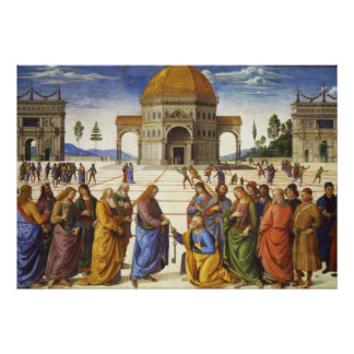 """Perugino """"Christ gives Peter the Keys"""" Poster"""