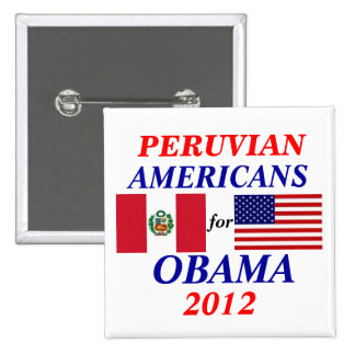 Peruvian americans for obama pin