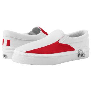 Peruvian flag Slip On Shoes
