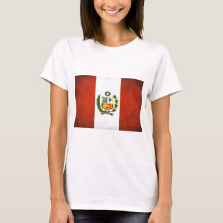 Peruvian Flag with Emblem T-Shirt