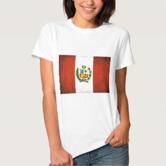 Peruvian Flag with Emblem T-shirts