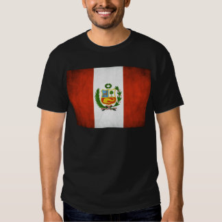 Peruvian Flag with Emblem Tshirts