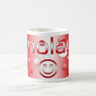 Peruvian Gifts : Hello / Hola + Smiley Face Basic White Mug