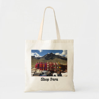 Peruvian Market in the Andes Budget Tote Bag